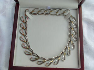 Sterling silver and gold Christofle collar or necklace with valuation France