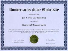 Doctor Anniversaries Novelty Diploma Gag Gift