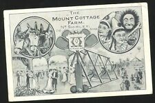 More details for postcard - mount cottage farm, shirley (now cheswick green) - advertisement 1908
