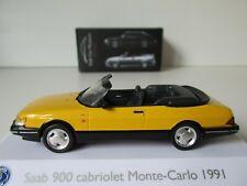 SAAB 900 CABRIOLET MONTE CARLO 1991, 1:43 Scale ATLAS Saab Car Museum Collection