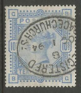STAMPS-GREAT BRITAIN. 1883. 10/- Pale Ultramarine. SG: 183. Superb Used.