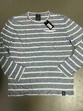 KEY LARGO  ~ gestreift melierter Pullover mit Leinen weiß blau - NEU Gr XXL 22F