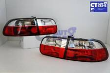 Crystal Clear Red Tail light for 92-95 HONDA CIVIC EG VTI 3D Hatch ONLY