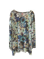 Before + Again Large Watercolor Long Sleeve Women's Top Thermal Boho
