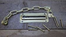 BRASS PLATED DOOR SAFETY SECURITY CHAIN PRIVACY FRONT BACK DOOR BRASSED nos