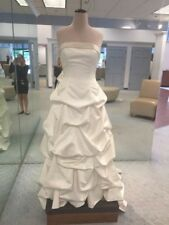 Beautiful Wedding Dress White Strapless Davids Bridal Style T9168 Size 12