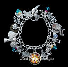~ALICE THROUGH THE LOOKING GLASS THEMED CHARM BRACELET, ALICE IN WONDERLAND~