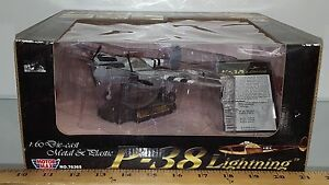 1/60 MOTORMAX P-38 LIGHTNING GRAY WITH WHITE AND BLACK STRIPES