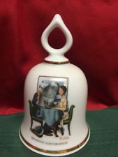 Wonderful World of Norman Rockwell Collectible Bell Breakfast Conversation 1979