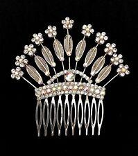 AB Crystal Hair Comb - Prom Bridal Formal Hair Clip Headpiece