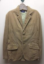 Guess Men's Corduroy Sport Jacket Blazer Distressed Style Light Tan 2 Button