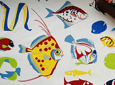 Soft Upholstery Heavy Cotton Fabric Sea Side TROPICAL FISH by HALF METRE #67
