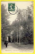 cpa FRANCE OISE 60 Rare MELLO en 1909 La COUR de l'HERMITAGE dans le PARC Donjon