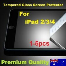 1-5pc Scratch Resist Tough Tempered Glass Screen Protector for Apple iPad 2 3 4