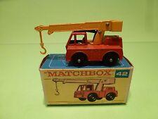 MATCHBOX 42 IRON FAIRY CRANE  - RED + YELLOW - NEAR MINT IN BOX