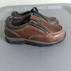 Timberland Toddler Youth Size 8 Shoes Brown Leather Slip On Comfort Mocassins