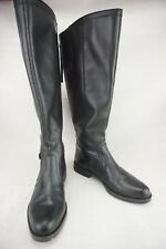 SARTO By Franco Sarto Carlana Zipper Black Leather Riding Boot Women's US 8.5 B
