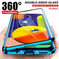 360 Magnetic Adsorption Tempered Glass Cover Case for Xiaomi Mi 10 Pro Note 10 9