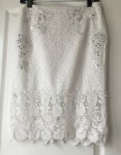 French Connection White Lace Skirt New Size 10