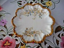 LIMOGES PLATE MADE IN FRANCE HAND PAINTED WITH BLUE FORGET-ME-NOTS DIAMETER 8-1.