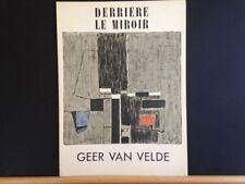 Derriere le Miroir 51, Geer Van Velde lithographs, Maeght 1952 vintage INV2098