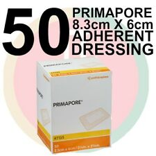 PRIMAPORE 8.3CM X 6CM BOX 50 Melolin ADHESIVE DRESSING low allergy First Aid