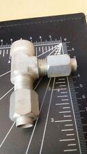 3/8 Tube OD x 1/4 NPT Female Run Tee  Threaded Pipe  Stainless Steel
