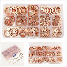 280 Pcs Vehicle Washers Solid Copper Sump Plug Assorted Engine Seal Gasket &Case