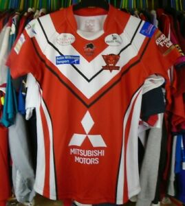 SALFORD RED DEVILS 2016 HOME RAGING BULL RUGBY LEAGUE SHIRT JERSEY TOP SMALL