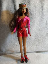 ~ RARE ~ Barbie Doll Long Brown Hair African Style Hat 1991 Body 1990 Head