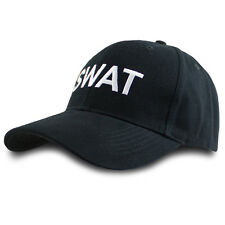 REAL DEAL Adult Mens SWAT Police Baseball Cap Hat Black Cotton Fancy Dress in UK