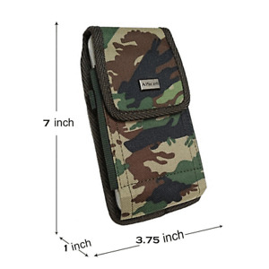 For Galaxy S20 Ultra,S21+,A11,A51 Camo Holster Pouch fit OtterBox,LifeProof Case