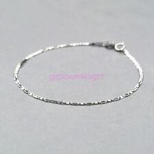Genuine 925 Sterling Silver Adjustable Tiles Link Slider Bracelet Extend Chain
