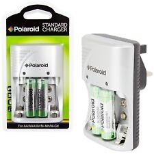 Polaroid AA / AAA / 9V Ni-Mh Ni-Cd Battery Charger Rechargeable Plug Batteries