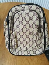 New Ladies Girls Monostrap Backpack Beige Brown Designer Rucksack Messenger Bag