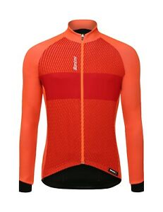 Santini Colle Long Sleeve Cycling Jersey in Orange