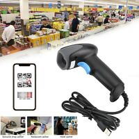 1D+2D Lettore Codice A Barre Barcode Scanner Con Cavo Usb Pistola Laser POS IT