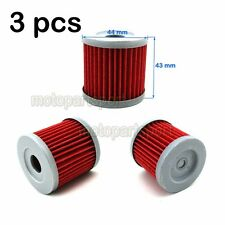 3x Oil Filter For SUZUKI DRZ400 DRZ400E DRZ400S DRZ400SM SUZUKI LTZ400 QUADSPORT