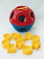 Tupperware Shape o Ball Shape Sorter Ball Vintage Toy Complete Set All Shapes
