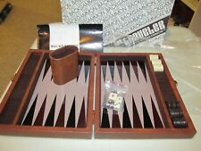 "Vintage 1970's Aries of Beverly Hills ""The Traveler"" Mini Backgammon Game Set"