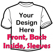 Childrens T Shirt customised, personalised, your own design, bespoke kids