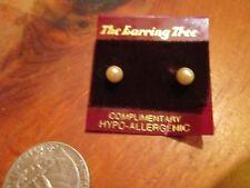 Vintage Retro Earring Tree Hypo Allergenic Faux Pearl Stud Fashion Earrings NEW