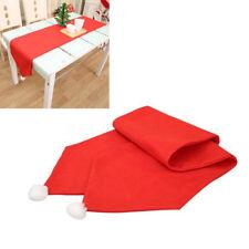 Santas Christmas Xmas Holiday Fleecy Table Cover Tablecloth Tableware Decoration