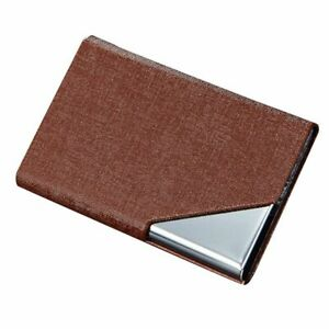 Pocket Card Holder Stainless Steel Metal Business Case ID Credit Wallet Solid