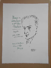 "Lithographie, Pablo Picasso, "" Hommage a A .Machado "" , Tirage 1500 Exemplaires"