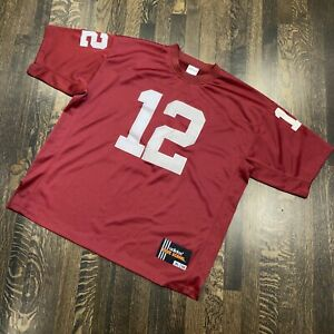 Alabama Crimson Tide JOE NAMATH Jersey Sewn vtg Adidas Football MENS XL 52