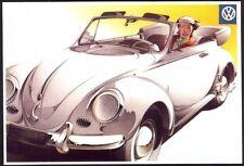 Modern Postcard: 1958 Volkswagen Convertible (Mayfair, Ref BC407)