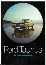 Ford Taunus 1971 French Market Sales Brochure L XL GT GXL Coupe Break Cortina