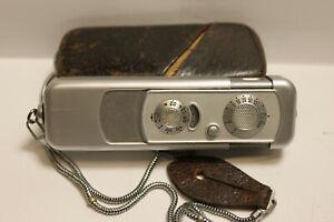 Miniaturkamera Minox A Spionagekamera mit Tasche und Kette, gut erhalten