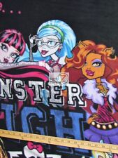 """WE ARE MONSTER HIGH BY DAVID TEXTILES FLEECE PRINTED FABRIC 60"""" WIDTH PANEL 937"""